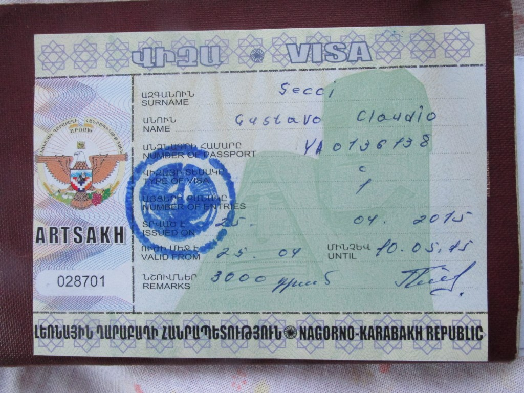Nagorno Krabakh visa