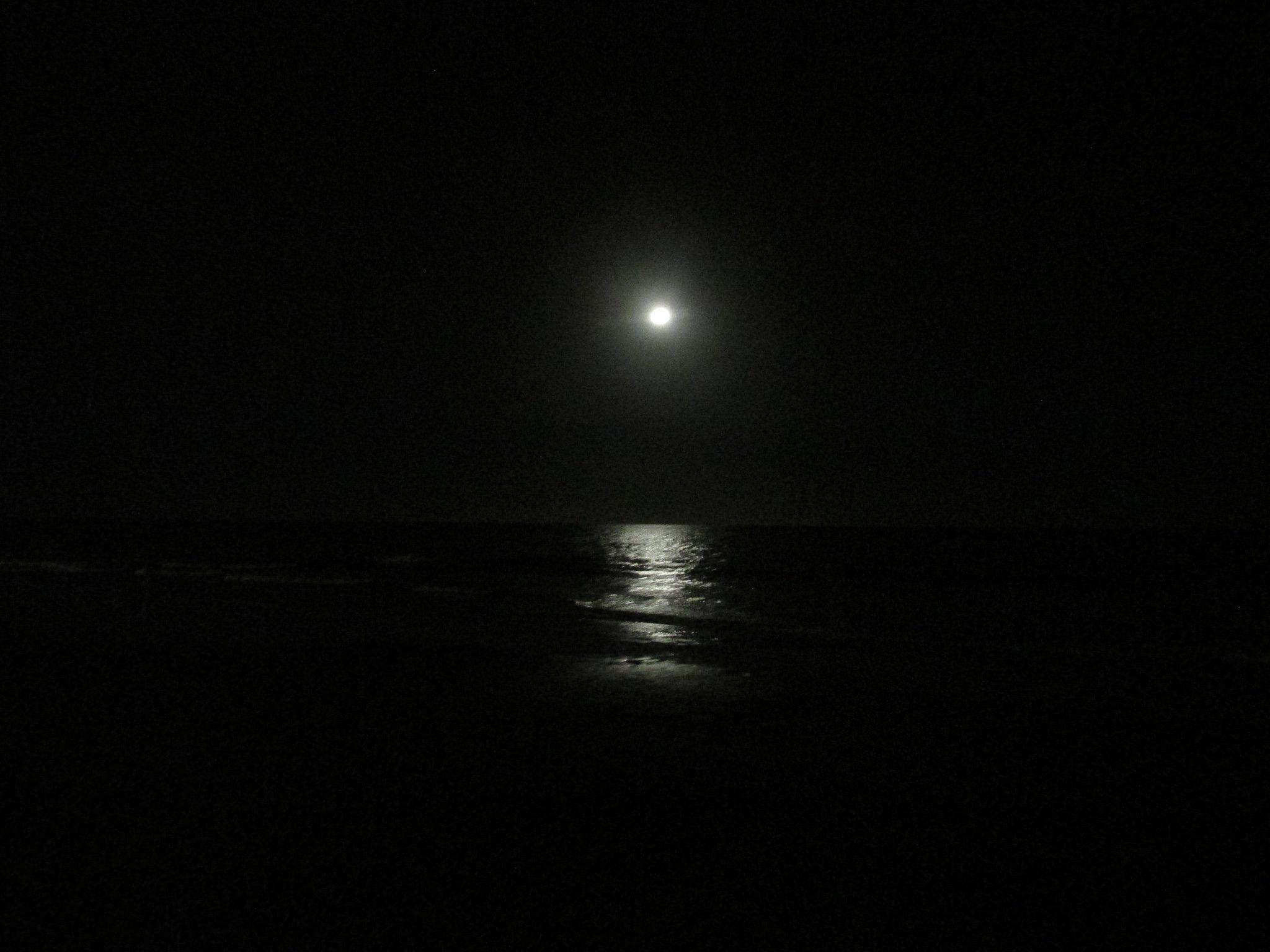 San Agustin e la luna non ancora blu