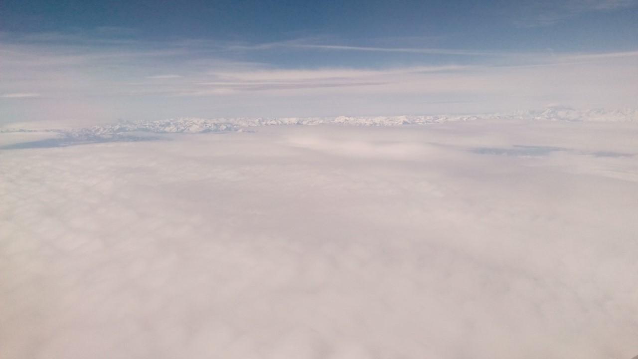 Alpi e nuvole, visione d'assieme