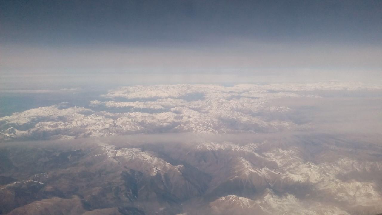 Alpi innevate viste dal cielo bellissime