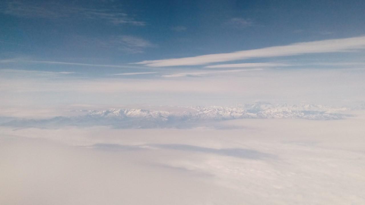 Alpi viste dall'alto