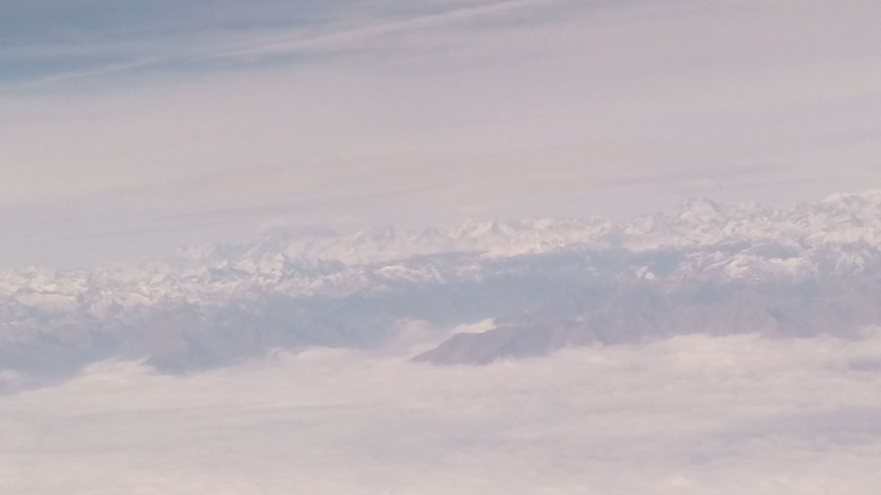Alpi viste dall'aereo