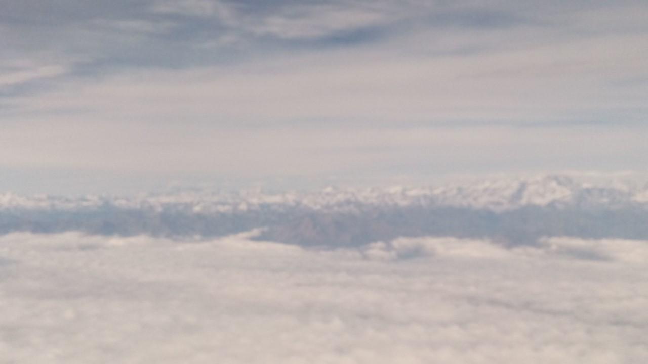 Alpi innevate viste dal cielo