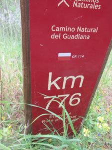 Gr114 camino natural Guadiana