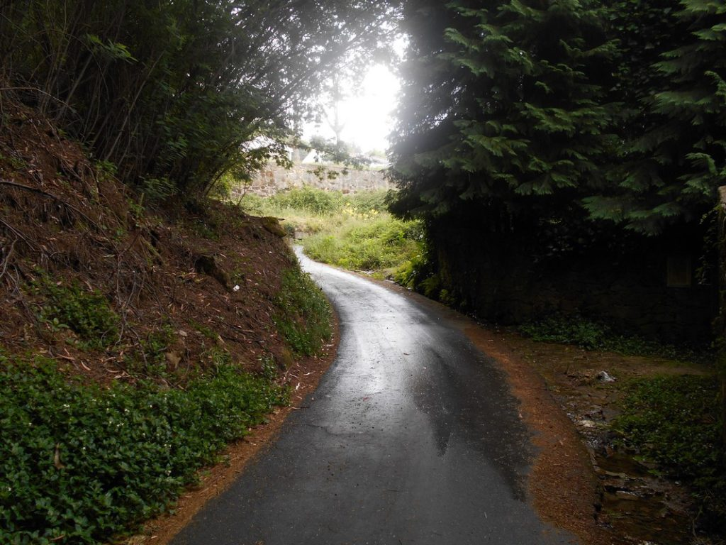 Tanta pioggia sul cammino portoghese di Santiago