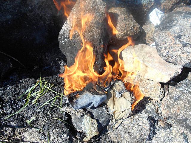 Fisterra fuoco bruciare