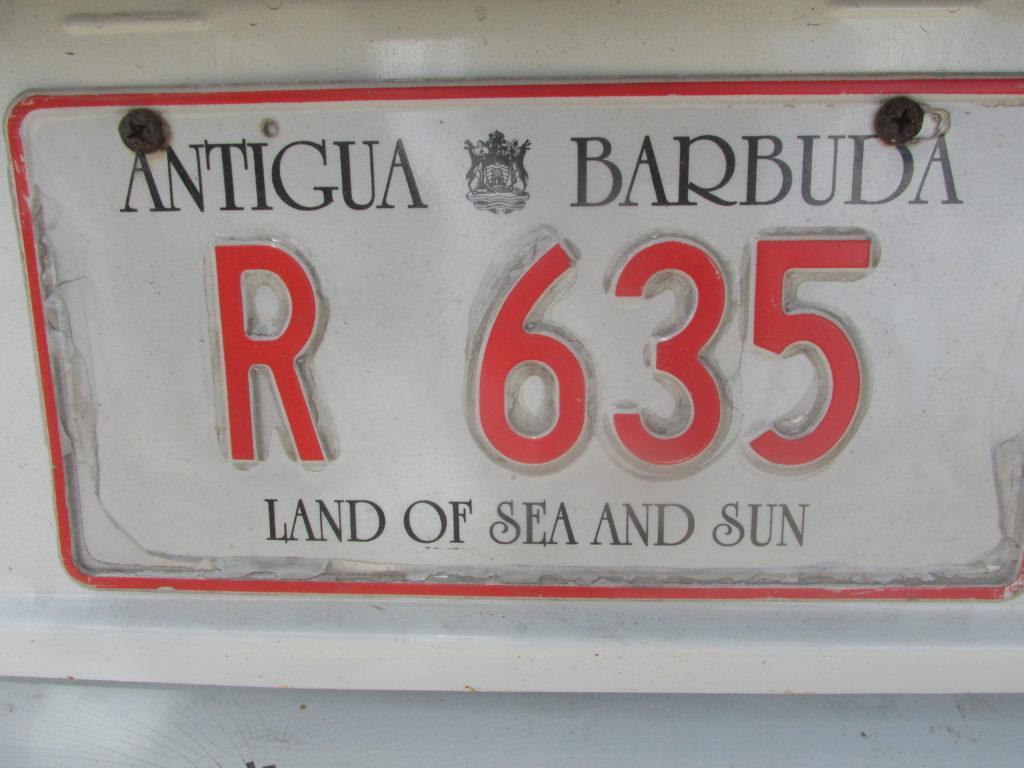 Antigua targa plate