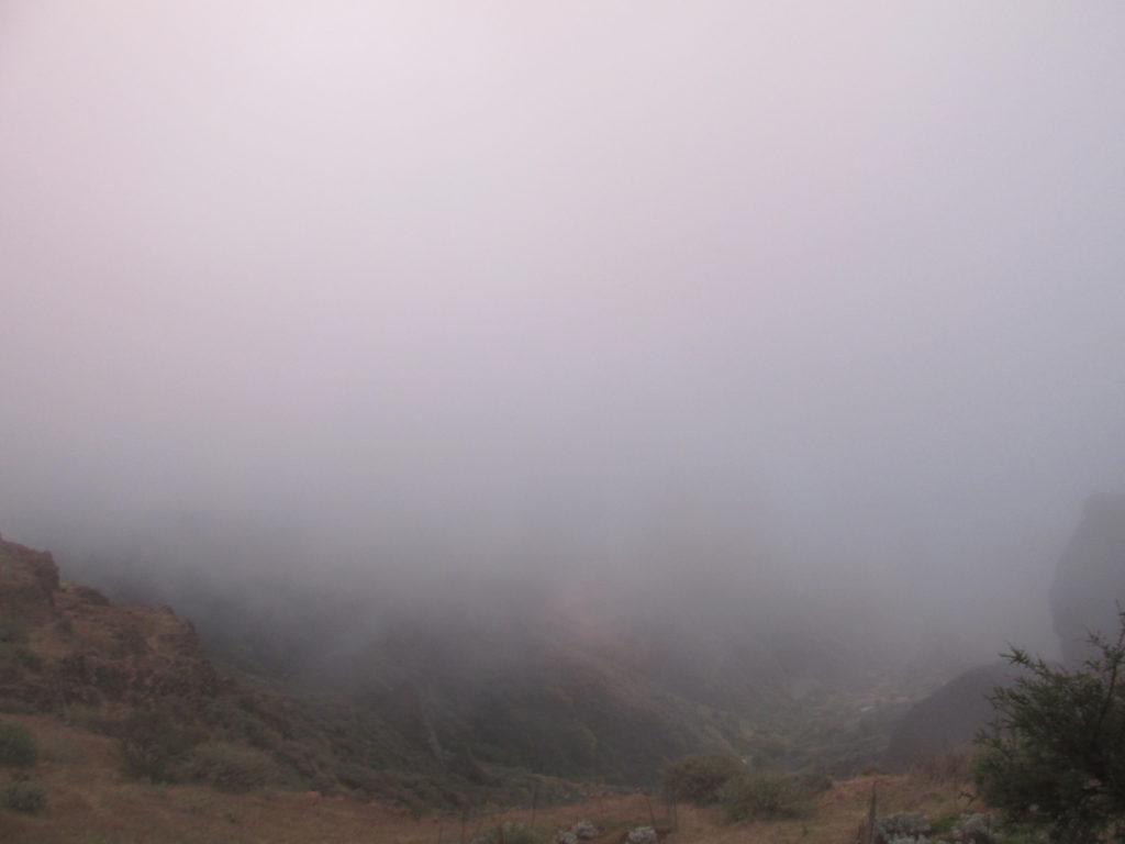 Cruz Tejeda, Gran Canaria nebbia