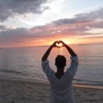 Cloudio cuore tramonto