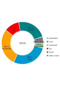 spese di luglio 2017 per categoria