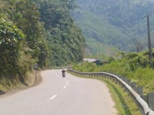 in moto per il Vietnam Centrale